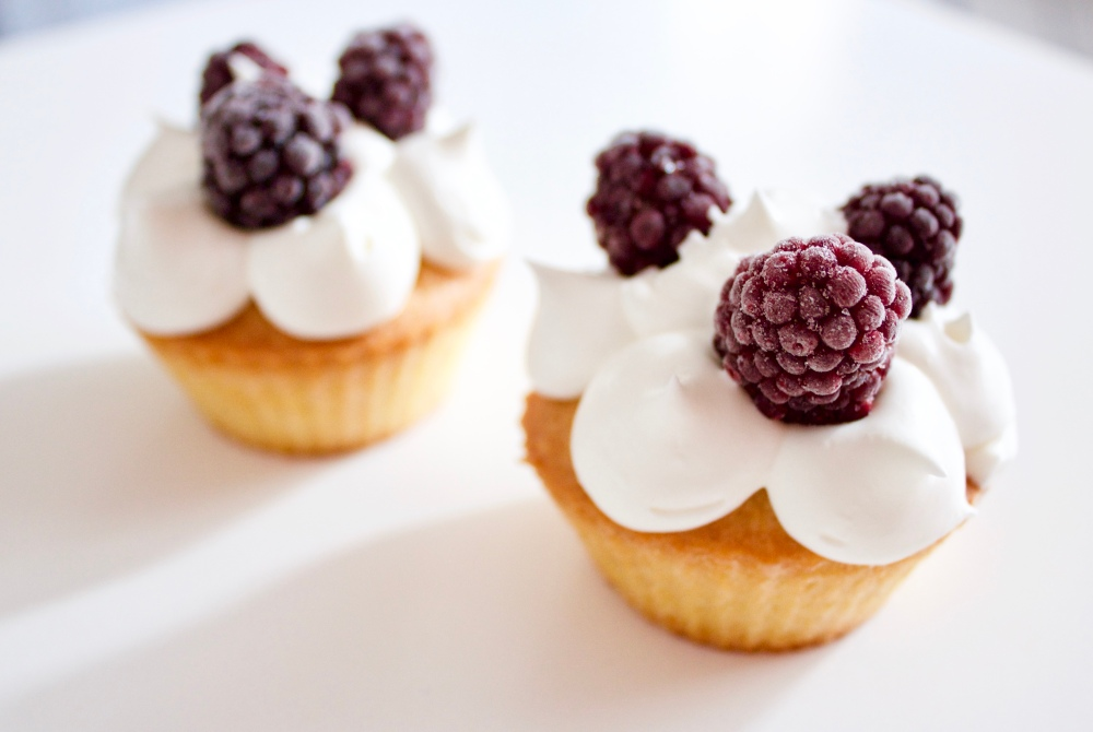 Cupcakes mûre et chantilly *